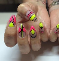 55+ Most Stylish Yellow And Pink Nail Art Design Ideas