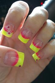 stylish yellow and pink