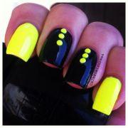 beautiful yellow nail art