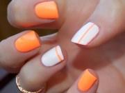 orange nail art ideas girls
