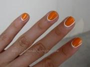 beautiful orange nail