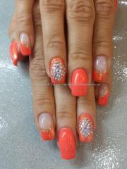 beautiful orange nail