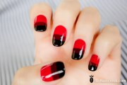 beautiful red nail art