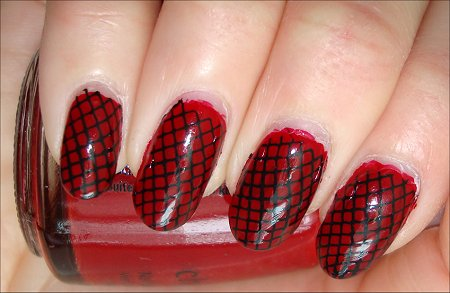 Nail Art Designs In Red Colour Nails Polish