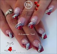 40+ Latest Red And Silver Nail Art Design Ideas