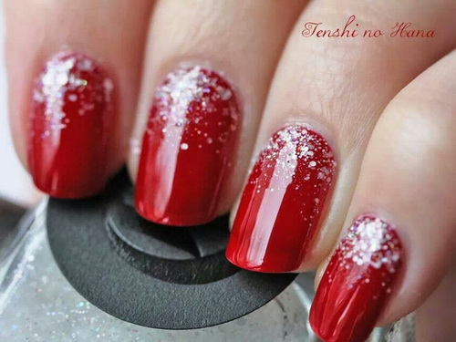 Red And Silver Glitter Nail Art 67 Best Design Ideas
