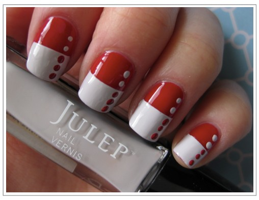 View Images Most Beautiful Red And White Nail Art Design Ideas