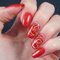 50 most Beautiful Red Nail Art Design Ideas