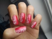 incredible red nail art design