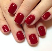 incredible red nail art design