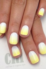 unique yellow nail art design
