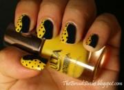 unique yellow nail art design