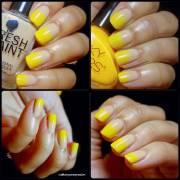 latest yellow nail art design