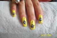 55 Most Beautiful Yellow Nail Art Design Ideas