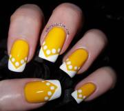 yellow and white nail art design