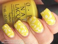 35+ Yellow And White Nail Art Design Ideas