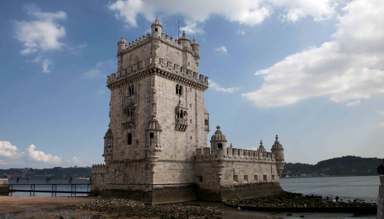 Belem Tower In Portugal During Sunset