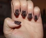 beautiful brown nail art