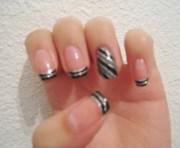 stylish black and gray nail