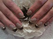 elegant brown gel nail art