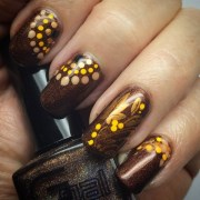 beautiful brown nail art