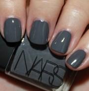 beautiful gray nail art