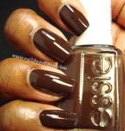 classy brown nail art design