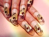 Attractive Airbrush Nail Designs Embellishment - Nail Art ...