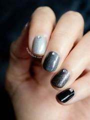stunning gray nail art design