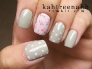 stylish gray and pink