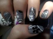classy gray nail art design