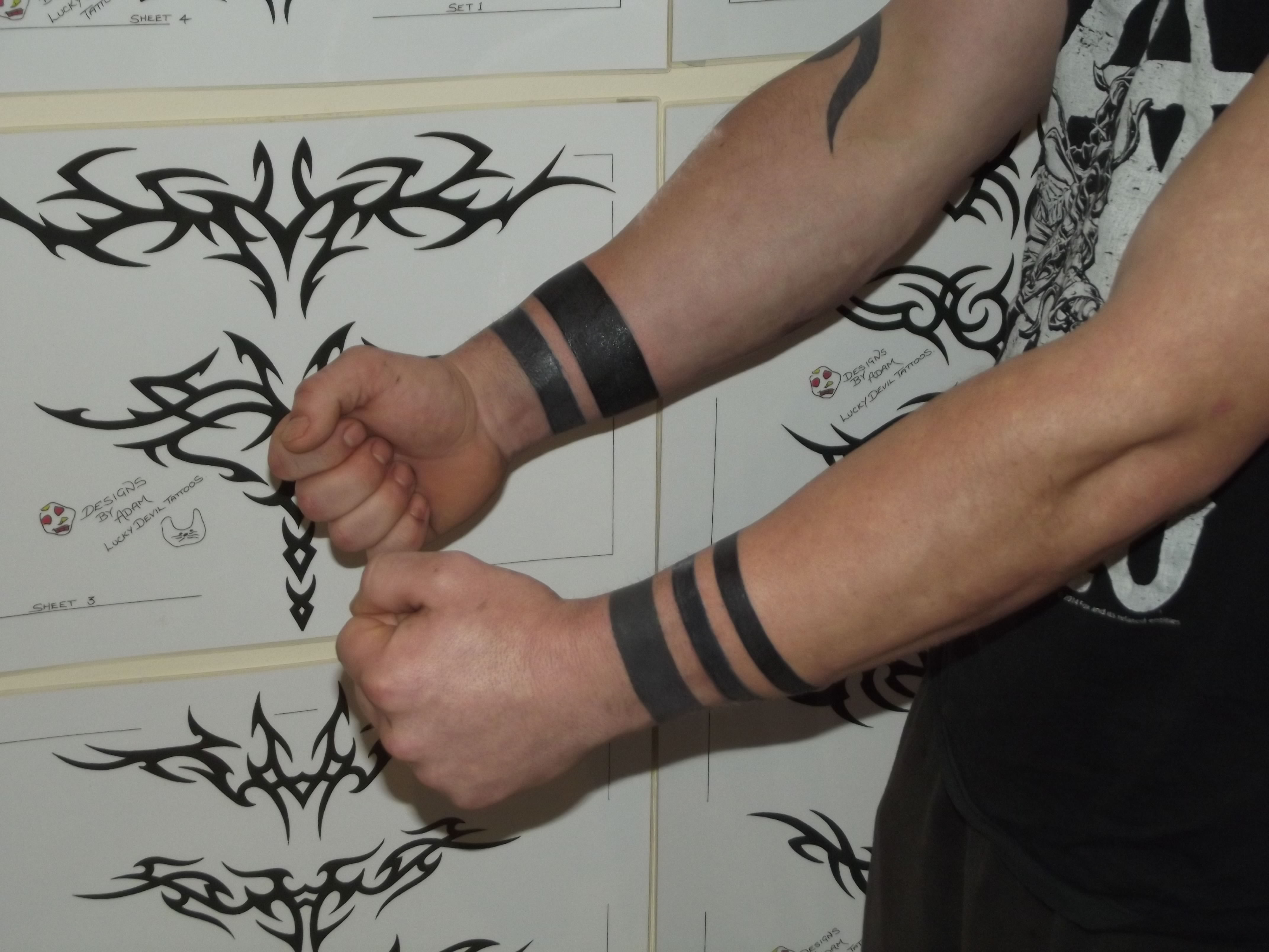 Wristband Tribal Wrist Tattoo For Men