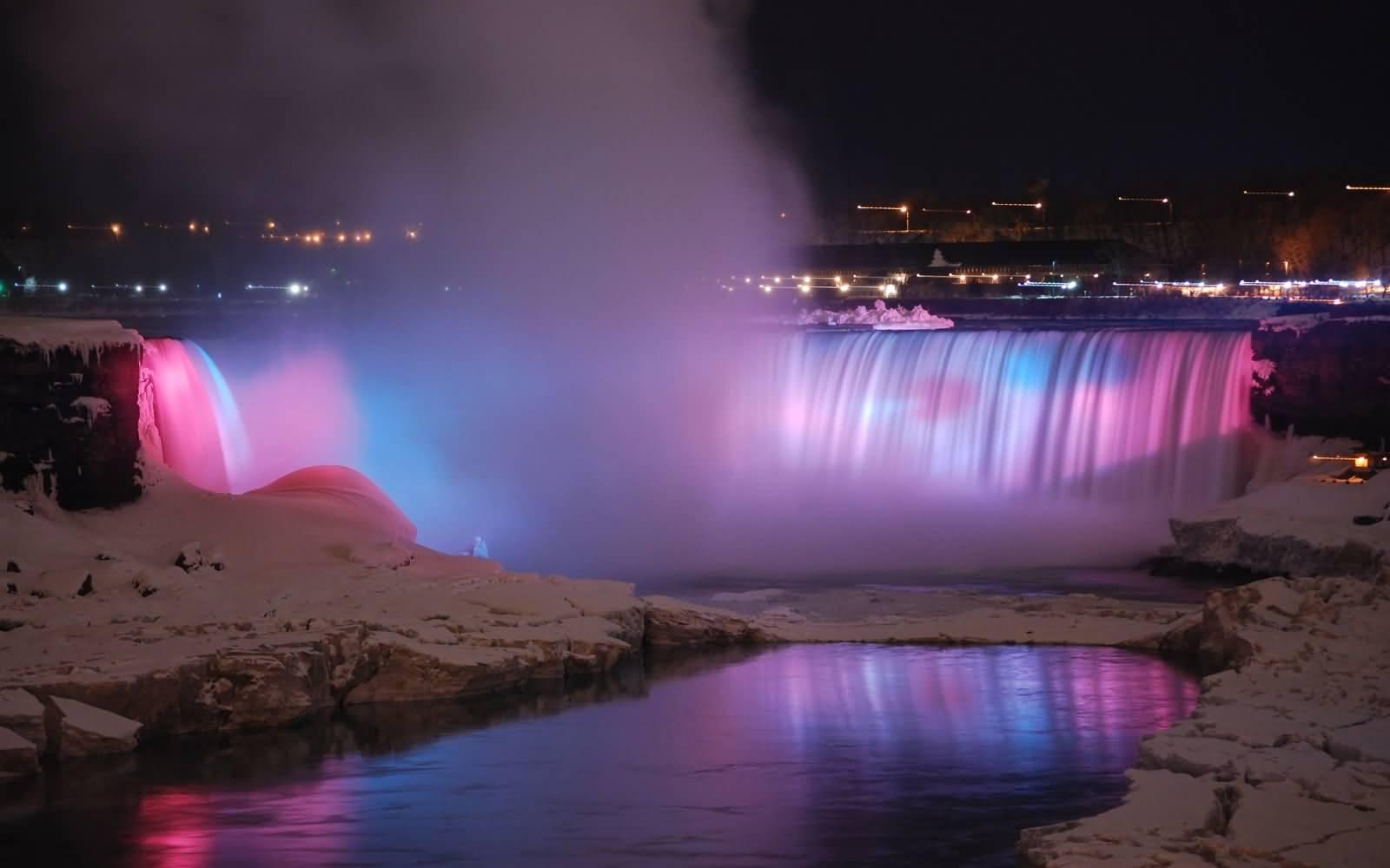 Niagara Falls Night Wallpaper Photos 40 Night View Pictures Of Niagara Falls