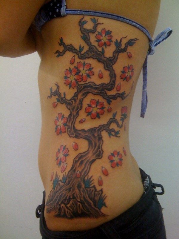 rib cage birds tattoos