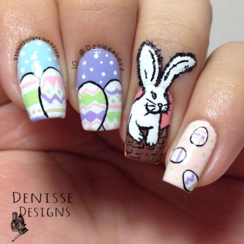 Amazing Easter Bunny Nail Art