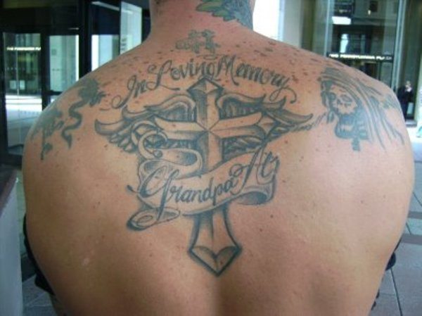 20 Angel Wings Memorial Tattoos For Grandpa Ideas And Designs