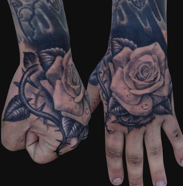 20 Black Men Tattoos On Hand Ideas And Designs
