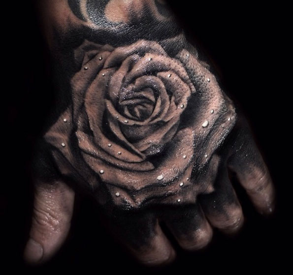 20 Beautiful Rose Hand Tattoos Ideas And Designs