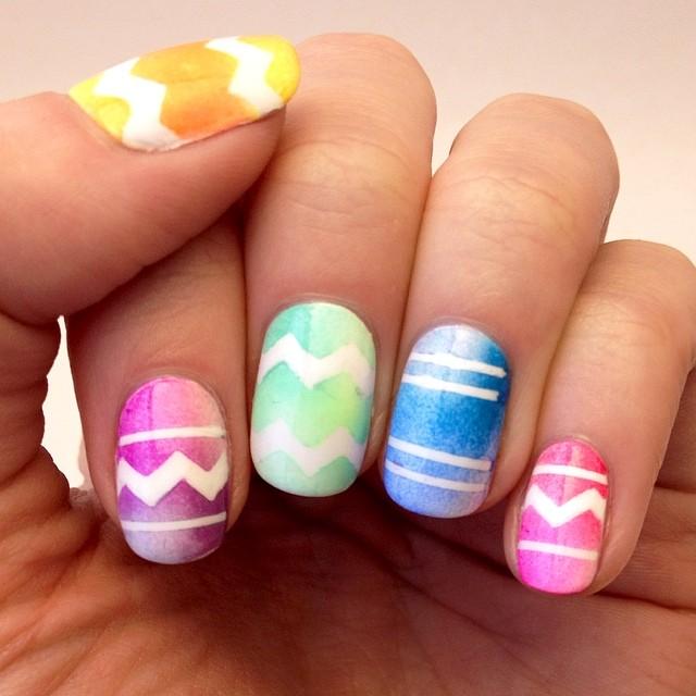 Colorful Easter Eggs Nail Art Idea