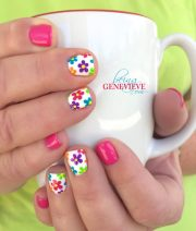 beautiful spring nail art design