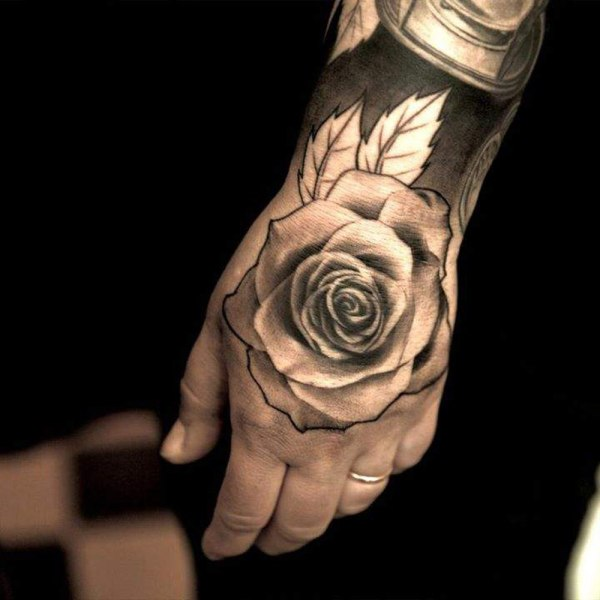 20 Rose Hand Tattoos For Men Ideas And Designs