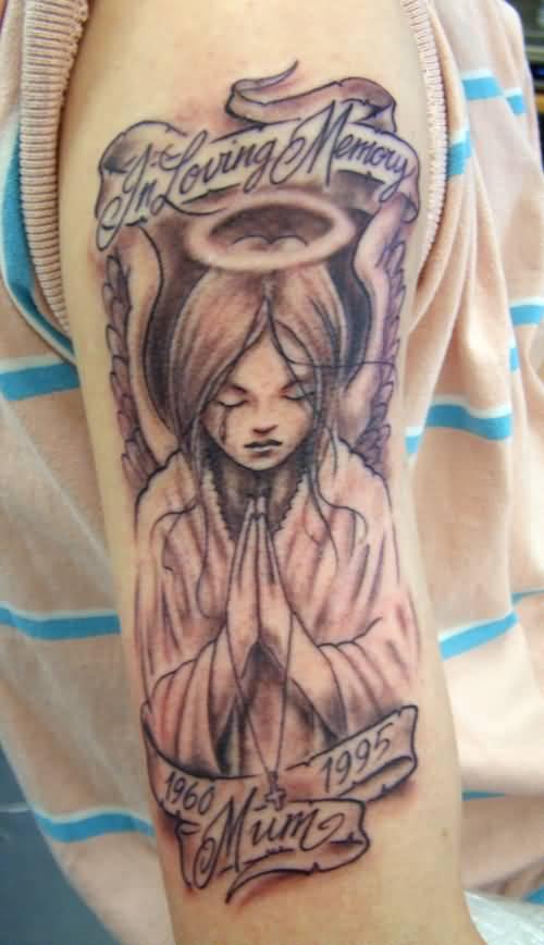 memorial angel tattoos ideas
