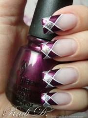 incredible plaid print nail