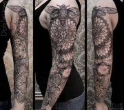 full sleeve mandala tattoos