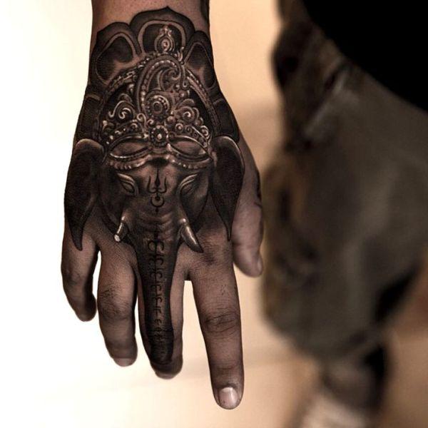 20 Hand Elephant Tattoos Ideas And Designs