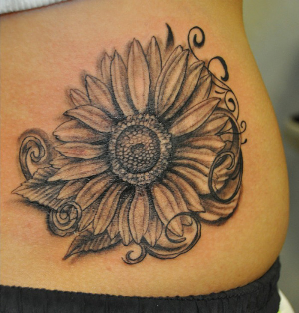 20 Realistic Sunflower Tattoos Black And Gray Ideas And Designs