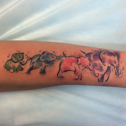 47 Elephant Family Tattoos