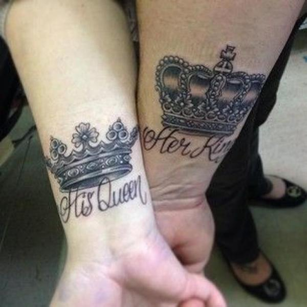 20 His And Her Crown Tattoos Ideas And Designs