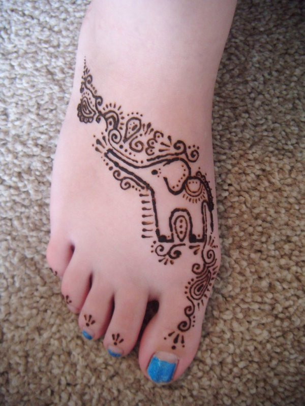 20 Easy Henna Feet Small Tattoos Ideas And Designs
