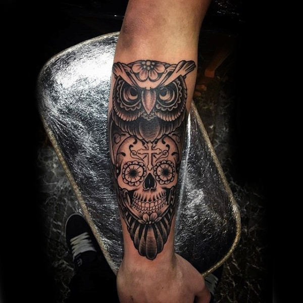 20 Owl Suger Skull Tattoos For Women Ideas And Designs